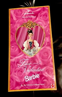 Hallmark Special Edition Fair Valentine Barbie 3rd in Series 1830s Fashion NRFB