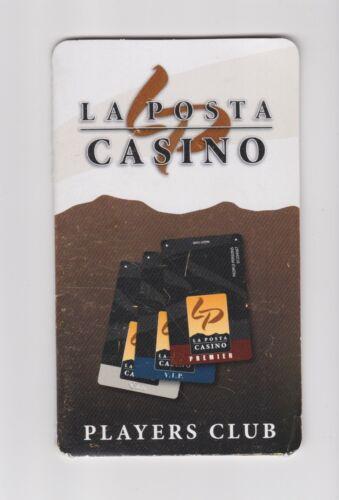 EMPTY Holder/folder Players Slot Club Card LA POSTA CASINO San Diego CA closed