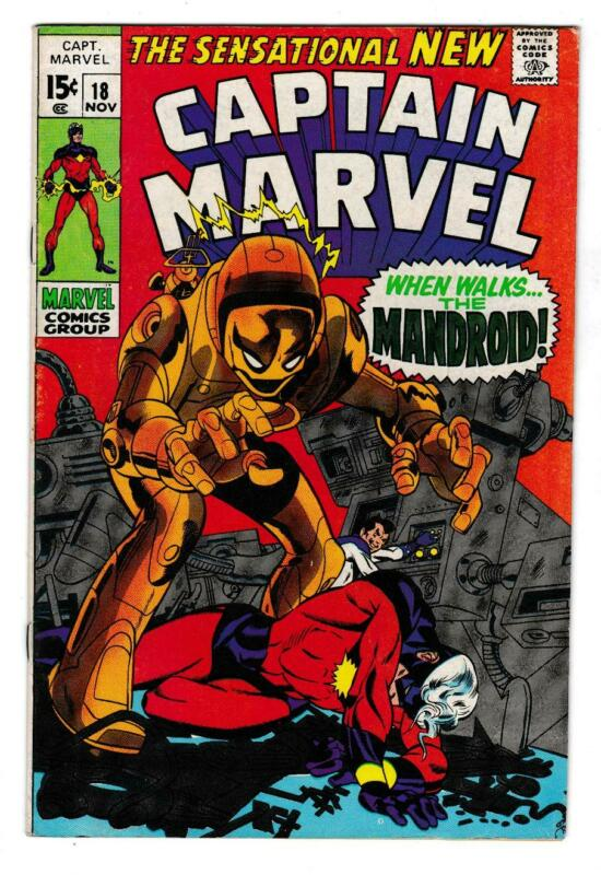 CAPTAIN MARVEL 18  VF (8.0) CAROL DANVERS POWERS, DEATH YON-ROGG (SHIPS FREE)*