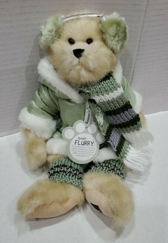 "TS Trade Secret 16"" Plush Bear Flurry 2004 Winter Jacket Scarf"