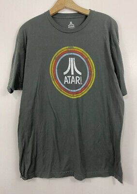 Atari Ripple Junction T-Shirt Mens Size XL Gray 2017 Retro Vintage Style Tee