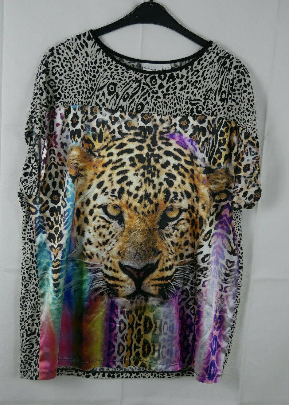 Damen AMY VERMONT Wunderschönes Shirt Leopard Größe 48/50 TOP!