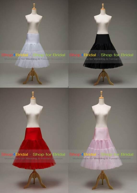 Tea Length Swing Vintage Prom Silps Crinoline Petticoat Swing Skirt TUTU 50s