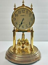 Howard Miller 9 Anniversary Clock W/ Glass Dome - Dual Chime - Decorative Clock