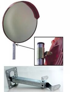 Specchio Stradale Parabolico Infrangibile 80 Cm Staffa