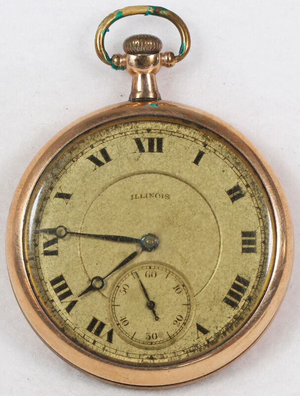 Illinois Aristocrat Pocket Watch 12 Size 17 J. Gold-Filled Open-Face - Working