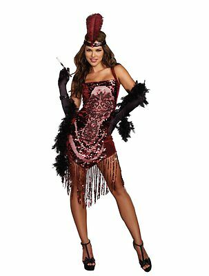Flapper Gatsby Girl Roaring 20s 20's Adult Costume ()