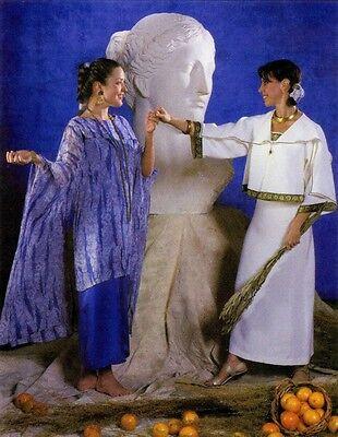 Folkwear 266 Greek Island Dress - Loose-fit Sheath,Tunic & Jacket Sewing Pattern - Greek Dress Pattern
