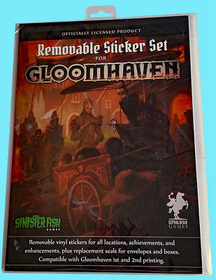 Gloomhaven Removable Sticker Set For 1St   2Nd Printing Board Game Cephalofair