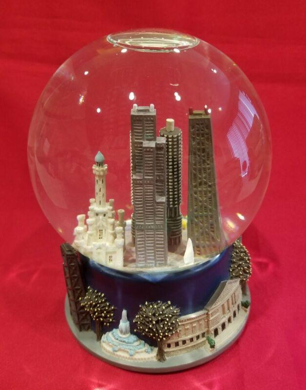 Chicago Skyline Musical Snow Globe Sinatra My Kind of Town Three Jays Imports