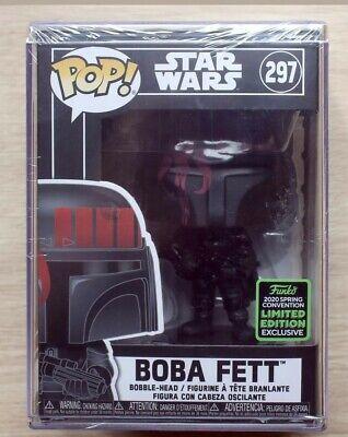 funko pop vinyl 297 Bobo fett black star wars eccc 2020 limited edition mint..