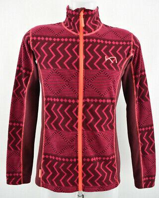 KARI TRAA Womens Fleece Jacket Outdoor Zip Neck Lightweight Top Size L