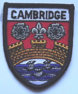 CAMBRIDGE WORLD EMBROIDERED PATCH BADGE + FREE UK POSTAGE