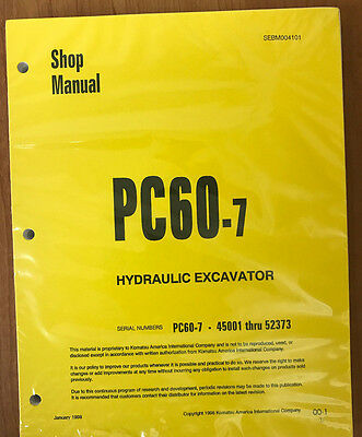 Komatsu Service Pc60-7 Excavator Shop Manual 2