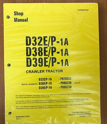 Komatsu D32ep-1a D38ep-1 D39ep-1 Dozer Bulldozer Service Shop Repair Manual