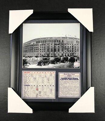 (NEW YORK YANKEES STADIUM OPENING DAY 1923 1ST GAME 8X10 FRAMED PHOTO BABE RUTH)