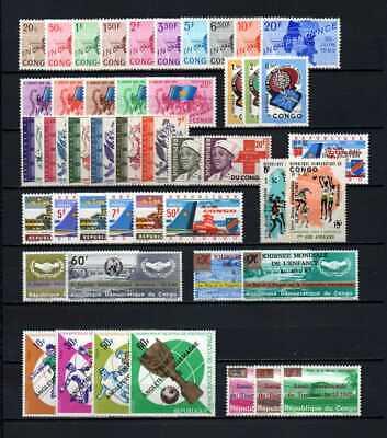 Belgisch Congo Belge - Rep. Congo Kinshasa Collection MNH sets (8) c25.75Eu.