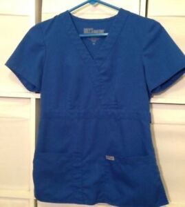 Grey's Anatomy Royal Blue Scrub Top Size XS