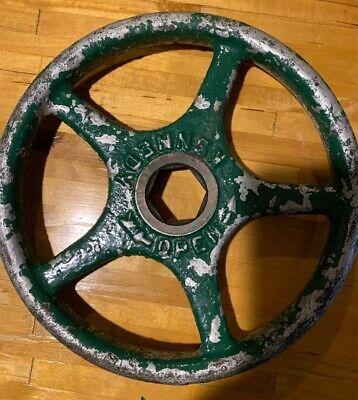 """10"""" Valve Wheel Handle Water Main Cast Iron Steampunk Kennedy Shut Off Vintage"""