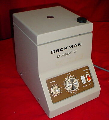 Beckman Coulter 12 Non-refrigerated Tabletop Laboratory Microfuge 120 Volts