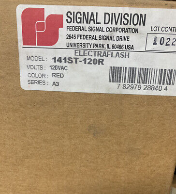 New Federal Signal Division 141st-120r Electrflash Strobe