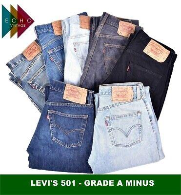 VINTAGE LEVIS LEVI 501 GRADE A MINUS JEANS MENS DENIM W30 W32 W34 W36 W38 W40