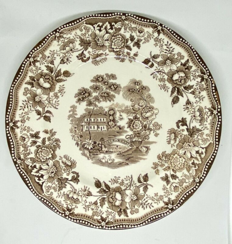 "ROYAL STAFFORDSHIRE ""TOQUIN""  10 INCH PLATE TRANSFERWARE CLARICE CLIFF"