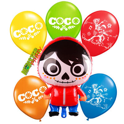 COCO MIGUEL Birthday Party Supplies BALLOON BALLOONS FAVOR SUPPLIES DECORATION - Birthday Supplies