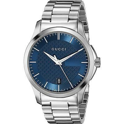 New Gucci G Timeless Blue Dial Stainless Steel Ya126440 Swiss 38Mm Watch
