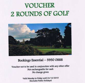 2 ROUNDS of GOLF at Rosebud Country Club voucher Aberfeldie Moonee Valley Preview