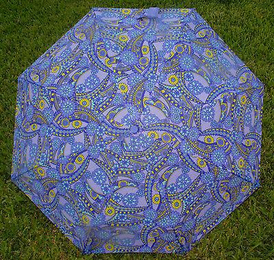 "Betsey Johnson - 42"" Ruffled Umbrella Purple / Violet ""Kaleidoscope Dreams"" *NEW"