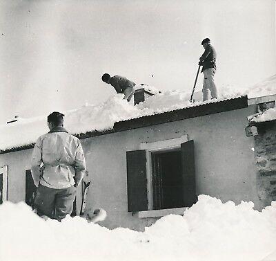 POSTE DU FRÉJUS c. 1935 - Chasseurs Alpins Deneigement du Poste Savoie - NV 2201