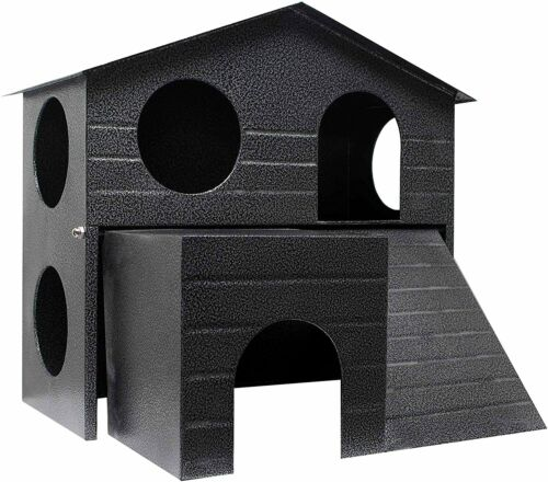 Felix & Fido SafeHaven XL All Metal Small Animal Hideaway Hut. Solid & Safe!