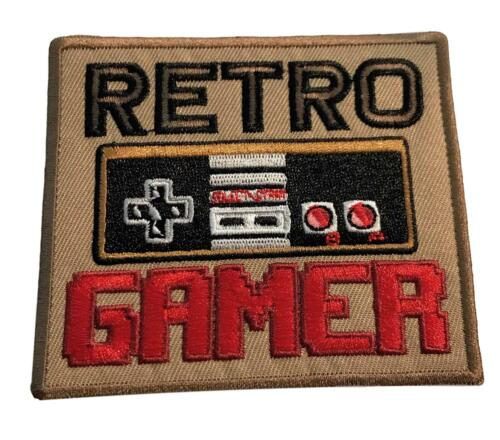 Retro Gamer Video Controller Logo Cosplay Iron On Patch