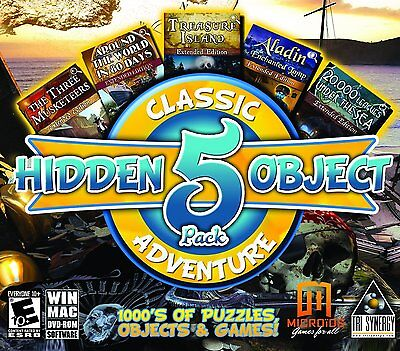 Computer Games - Hidden Object Classic Adventures 5 Game Pack PC Games Windows 10 8 7 XP Computer