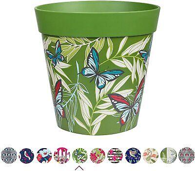 Hum Flowerpots, butterfly palms plant pot outdoor/indoor planter 22cm x 22cm