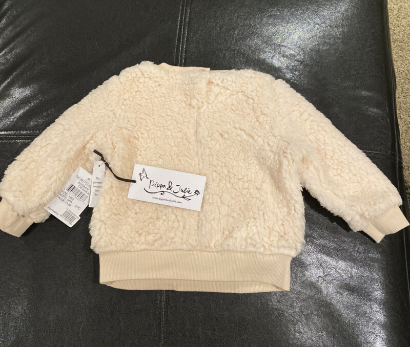 Pippa & Julie Infant Cream Faux Fur Sweat Shirt 18 M