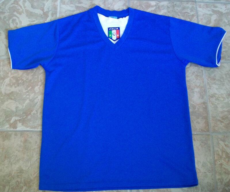 Blue Italian National Team Jersey Soccer T-Shirt