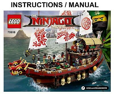 Lego Ninjago 70618 Movie Destinys Bounty Instructions Only