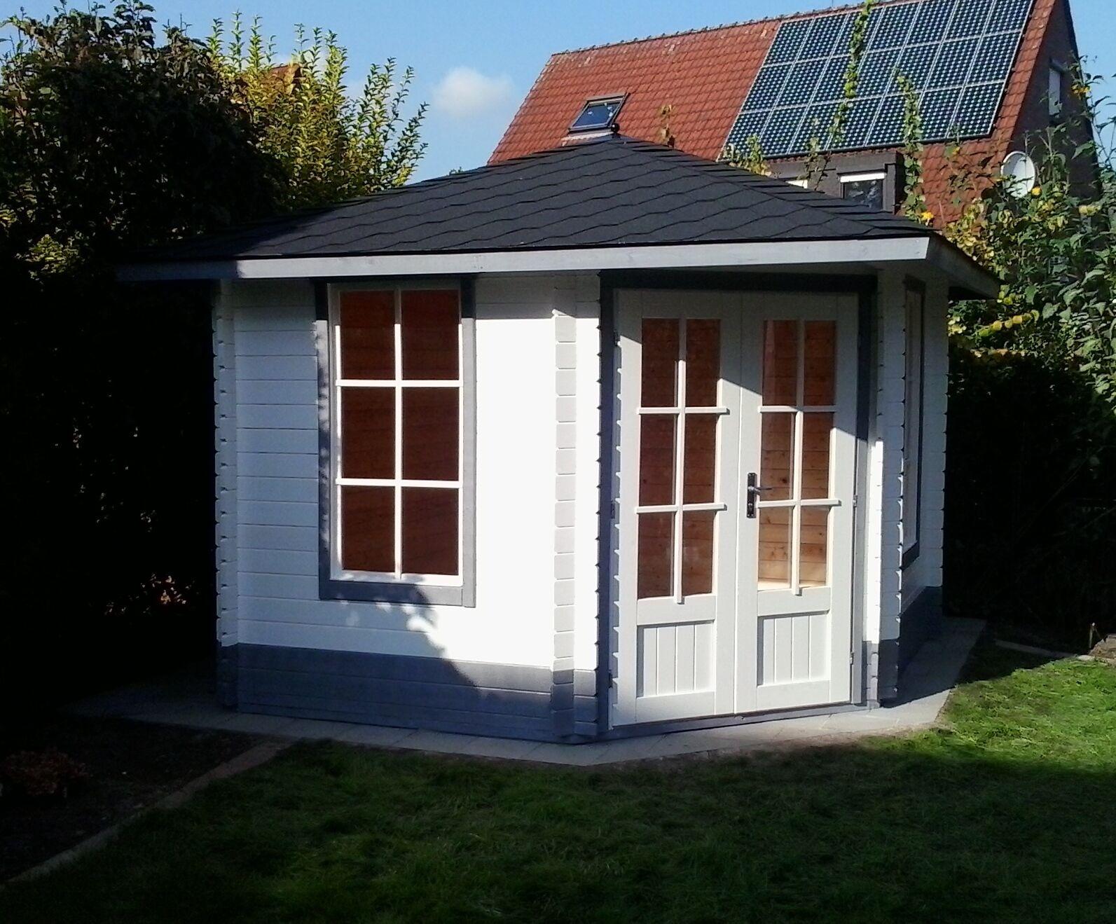 5 eck gartenhaus blockhaus, 3x3m 5-eckige aus holz