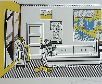"ROY LICHTENSTEIN ""Artist's Studio""  MATTED LITHOGRAPH PLATE SIGNED"