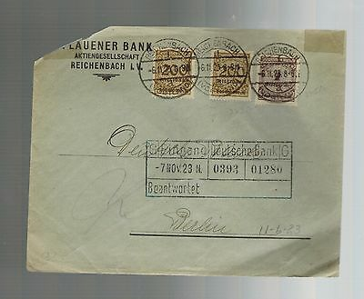 1923 Reichenbach Germany Deutsche Bank  500 Million Multi Frank Inflation Cover