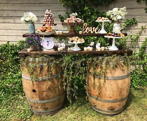 Rustic wedding dessert table cake/cupcake stands for rent