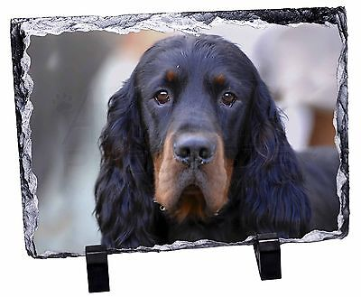 Gordon Setter Dog Photo Slate Christmas Gift Ornament, AD-GOR2SL