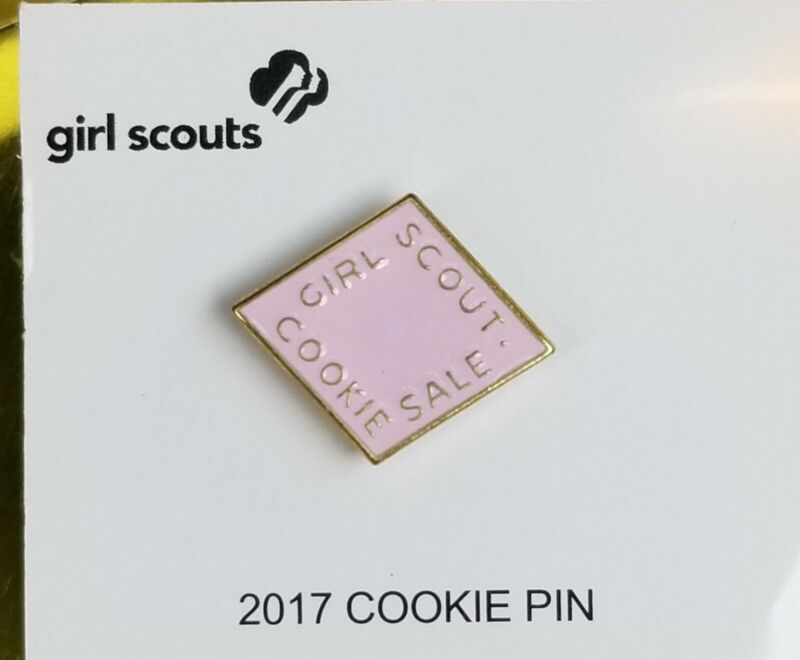 NEW Girl Scout 2017 Cookie Pin NEW Girl Scouts