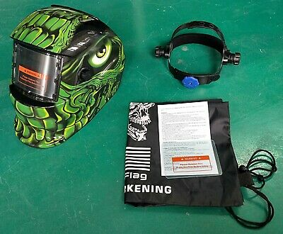 Ttht Auto Darkening Weldinggrinding Helmet Hood1 Carrying Bag1 Clear Cover