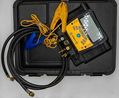 Fieldpiece Sman460 4 Port Digital Manifold With Case Hoses Clamps