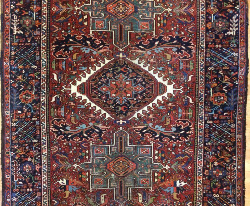 Tremendous Tribal - 1900s Antique Oriental Rug - Runner Gallery - 4.10 X 12.2 Ft