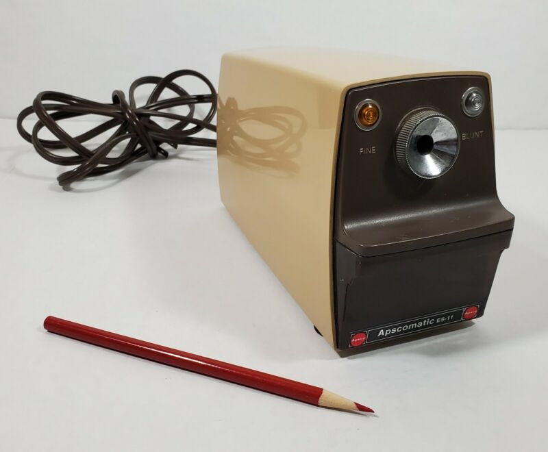 APSCOMATIC ES-11 ELECTRIC PENCIL SHARPENER Heavy Duty Made In Japan