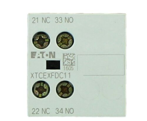 EATON Cutler-Hammer Miniature Contactor -AUXILIARY CONTACT  XTCEXFDC11